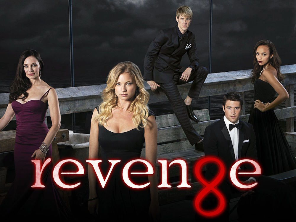 "REVENGE - ABC's ""Revenge"" stars  Madeleine Stowe as Victoria Grayson, Emily VanCamp as Emily Thorne, Gabriel Mann  as Nolan Ross, Josh Bowman as Daniel Grayson, Ashley Madekwe as Ashley Davenport, Nick Wechsler as Jack Porter, Henry Czerny as Conrad Grayson, Christa B. Allen as Charlotte Grayson and Connor Paolo as Declan Porter. (ABC/BOB D'AMICO)"